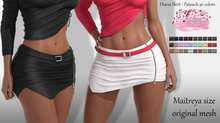 Dianas EXCLUSIVE Female  Skirt Mesh- MAITREYA LARA - FATPACK 30 Color HUD CB collection