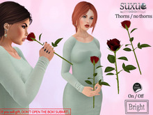 [SuXue Mesh] V2 Rose 3 AO Smelling Holding R Hand Thorny Thornless Resizable Transfer Red