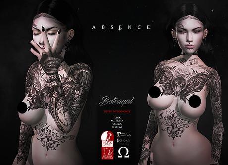 .Absence.  Betrayal Tattoo Appliers BOM