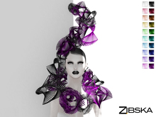 Zibska ~ Amarante color change headpiece and collar