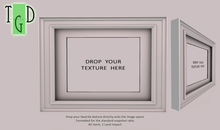 ~GD~ Picture Frame w Drop-In Texture - White