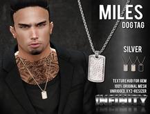 !NFINITY Miles Dog Tag Necklace - SILVER (add/wear)
