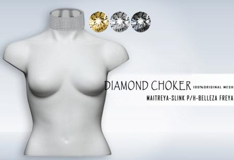 iS Diamond Choker SILVER