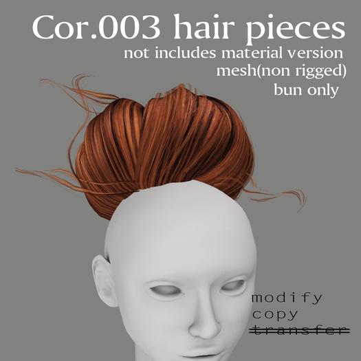 *booN Cor.003 hair pieces black pack