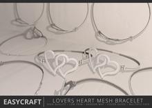 EASYCRAFT - Full Perm Lovers Heart Bracelet