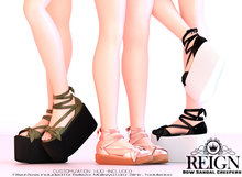 REIGN.- BOW SANDAL CREEPERS- DEMO