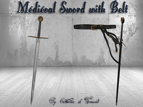 """""""CdT"""" Medieval Sword &Belt 2"""