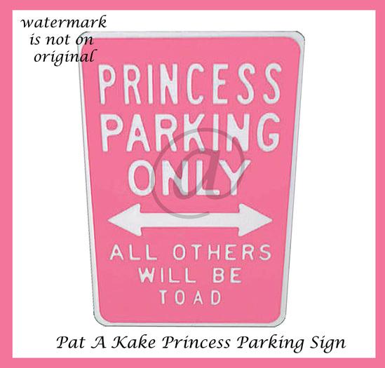 Pat A Kake Princess Parking