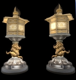 set of temple flickering lamps