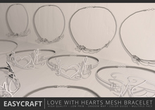 EASYCRAFT - Full Perm Love with Hearts Bracelet