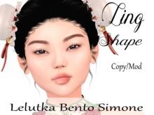 "Ling Shape ""Lelutka Bento Simone Head"""