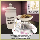 Grandma's HomeMade Cookies-Floral