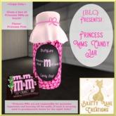 Princess M&Ms-Pink Jar