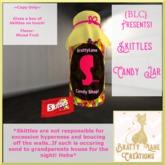 Skittles Candy Jar
