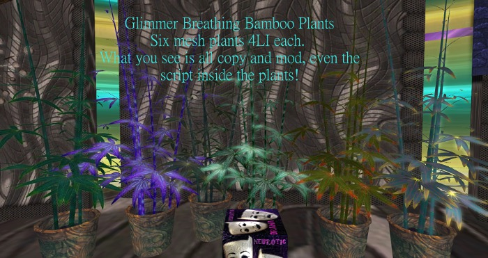 Second Life Marketplace Nd Glimmer Breathing Bamboo Plants 6