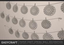 EASYCRAFT - Paper Craft Spring Wall Decoration
