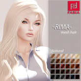 -FABIA- Mesh Hair  <Rima> Natural Tones