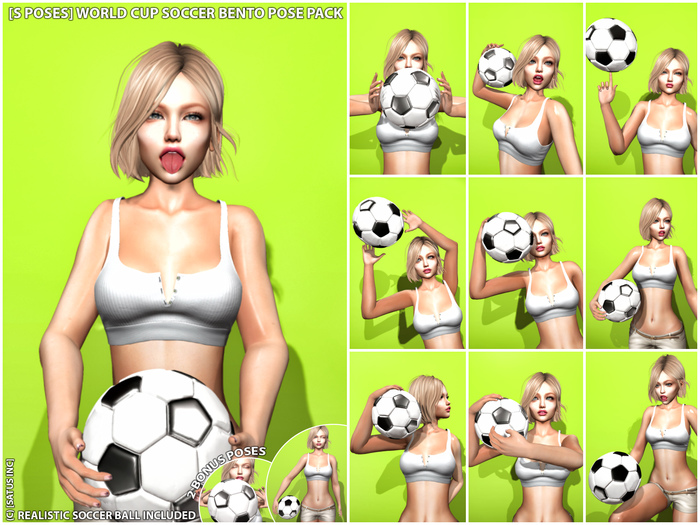 [S Poses] World Cup Soccer Bento Pose Pack