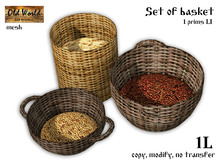 Gift from Old World - Set of baskets - Medieval / Rustic