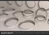 EASYCRAFT - Tri Wrapped Leather Studded Bracelet