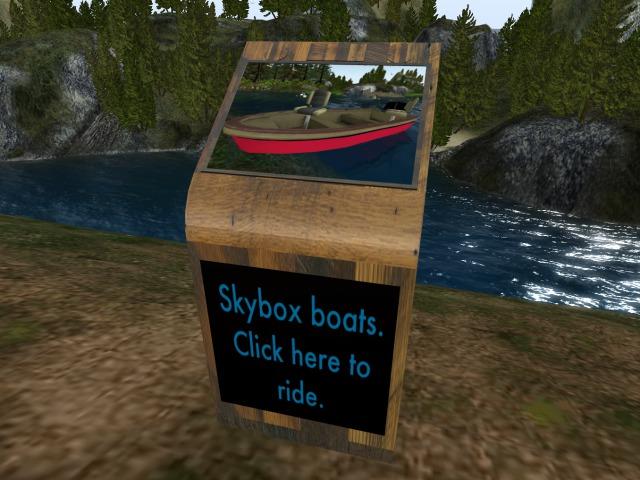 Skybox boat rezzer/ terminal