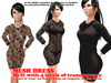~Elya~ Black Rose Transparent Dress