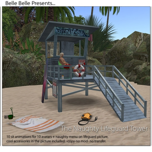 The Naughty Life Guard Tower - Belle Belle Furniture