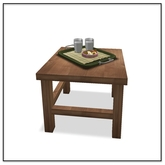 Apres Ski Side Table with Milk & Cookies Tray - Belle Belle Furniture