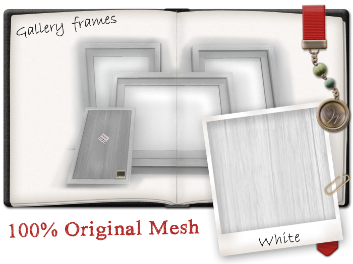 -W-[ Home Decor ] White Gallery picture frames
