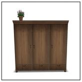 Apres Ski Armoire with Flowerpot - Belle Belle Furniture