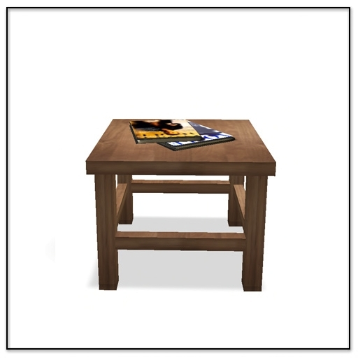 Apres Ski Side Table with magazines - Belle Belle Furniture