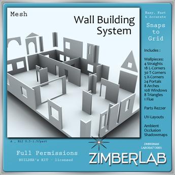 Mesh Building Elements full perm - ZimberLab Walls A - Basic