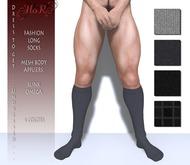 [HoR] Fashion Long Socks for Him blacks - mesh body appliers