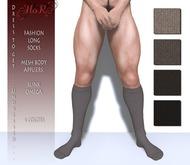 [HoR] Fashion Long Socks for Him browns - mesh body appliers