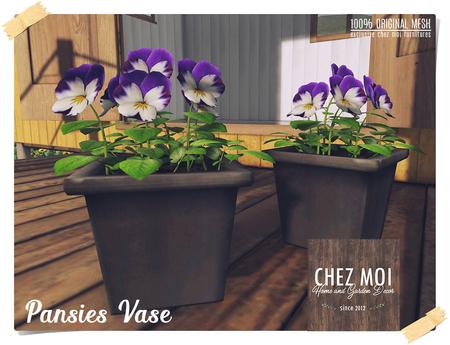 Pansies Vase ♥ CHEZ MOI