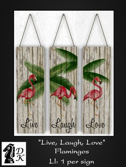 Second Life Marketplace Dkd Decor Signs Live Love Laugh