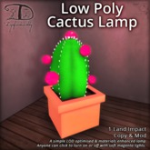 [DDD] Low Poly Cactus Lamp - On/Off Scripted. Low Lag.