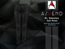 /Ascend/ Mr. Valentine Suit Pants - Black