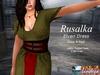Rusalka Medieval Fantasy Elven Dress - Sage & Red - Rigged Mesh