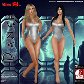 Miss S. Onepiece Dance Spandex silver mesh