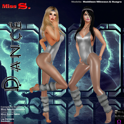 Miss S. Dance Spandex silver Value Pack
