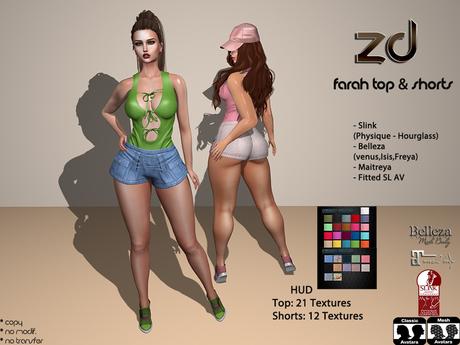 *ZD* Farah Top & Shorts