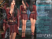 Bella Moda: Passione Gotica Crimson Gothic Love Outfit - Maitreya/Physique/Hourglass/Isis/Venus/Freya+Std