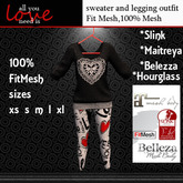 hEARTS AND LEGGINGS DISPLAY MODEL