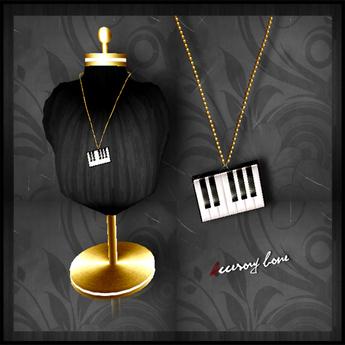 accessory bone A:B necklace 005 Piano