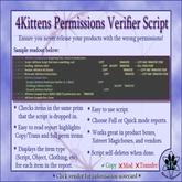 4Kittens Permissions Verifier Script