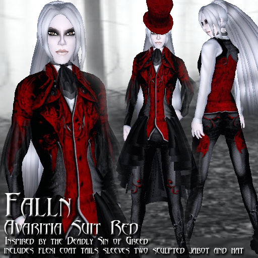 Falln Avaritia Suit Red
