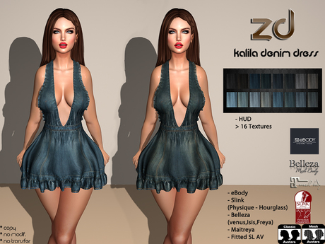 *ZD* Kalila Denim Dress