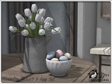 Country Flower & Egg Set