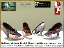DEMO Bliensen + MaiTai - Balboa - Vintageshoes - white / cream